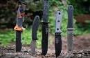Couteau de chasse, buschraft, outdoor, nature, survie, Idée cadeau. Couteau forgé main